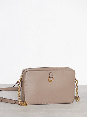 Lauren Ralph Lauren grå axelväska Camera Bag Crossbody Medium Taupe