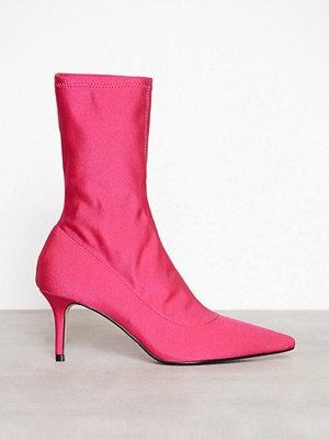 Topshop Mojito Floral Sock Boots Pink