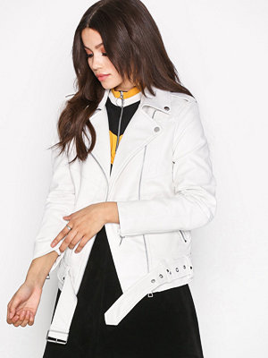 Vero Moda Vmleeds Short Faux Leather Jacket Vit