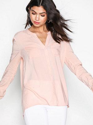 Only onlFIRST Ls Pocket Shirt Noos Wvn Ljus Rosa