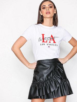 River Island Frill PU Mini Skirt Black