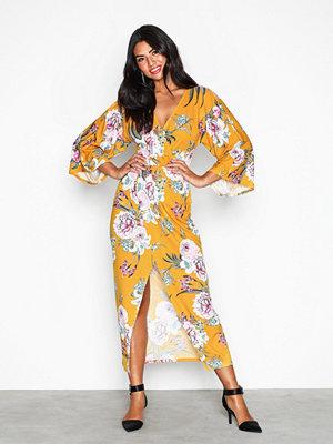 NLY Trend Print Kimono Dress Mustard