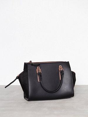 New Look Metallic Trim Tote Bag Black