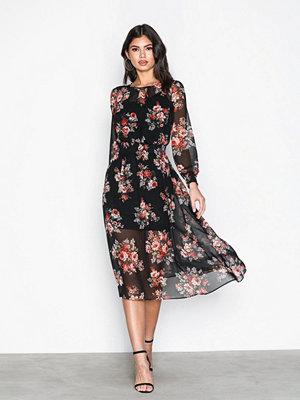 New Look Shirr Midi Dress Black