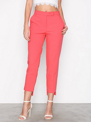 River Island rosa byxor Stepped Hem Cigarette Trousers Pink