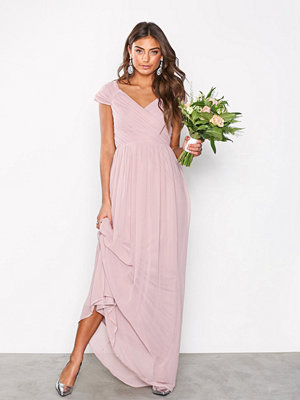 NLY Eve Cap Sleeve Maxi Gown Dark Rose