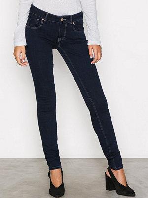 Only onlDYLAN Low Sk Push Up Jeans REA19 Mörk Blå