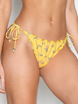 NLY Beach Ruffle Brazilian Panty Blommig