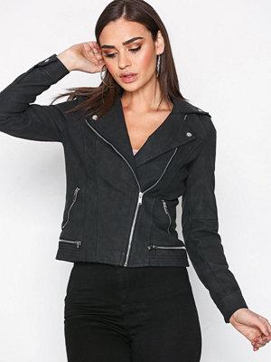 Vero Moda Vmworld Short Faux Leather Jacket N Svart