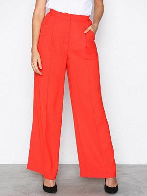 Vero Moda röda byxor Vmlanjuli Hw Long Wide Pants D2-3 Röd