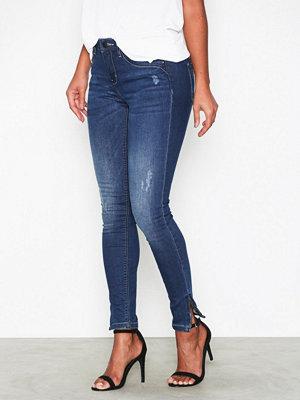Jeans - Only onlKENDELL Reg Sk Ank Jeans CRE500 Mörk Blå
