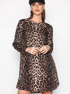 Only onlWILD L/S Short Dress Wvn Svart