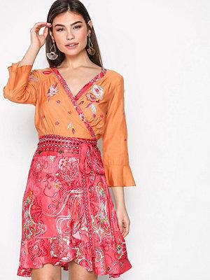 Odd Molly Delicate L/S Dress Raspberry