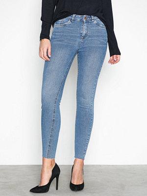 New Look Cut Off Hem Jeans Blue