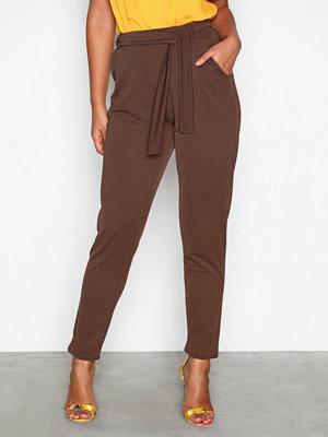 NLY Trend bruna byxor Dressed Tie Pants Brun
