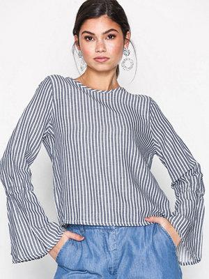 Tunikor - Only onlROSIE Bell Striped Dnm Shirt Qyt Vit