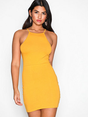 NLY Trend High neckline dress Mustard
