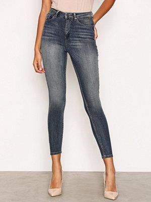 Only onlPOSH Hw Ankle Dnm Jeans REA17982 Mörk Blå