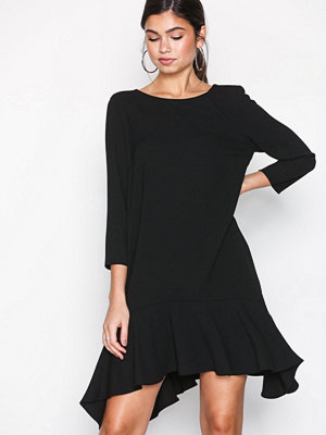 River Island 3/4 Sleeve Swing Dress Black