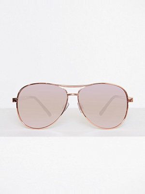 River Island Aviator Lavendar Sunglasses Gold