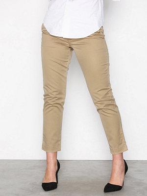 Polo Ralph Lauren omönstrade byxor Brooke Skinny Pant Beige