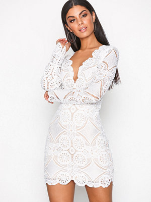 Love Triangle Atomic Mini Dress White
