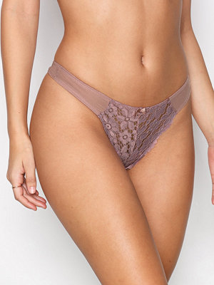 NLY Lingerie For Me Lace Thong Rosa/Brun