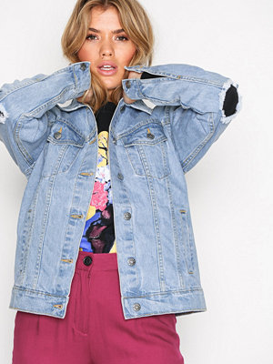 NLY Trend Flawless Denim Jacket Ljus Blå