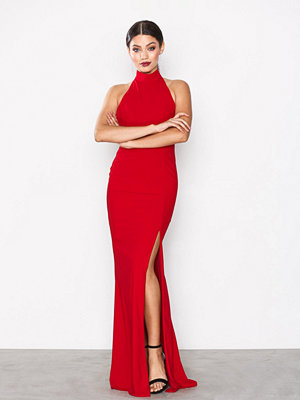 NLY Eve Sportscut Slit Gown Röd