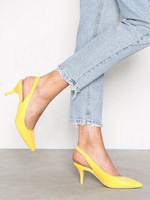Pumps & klackskor - NLY Shoes Slingback Pump Gul