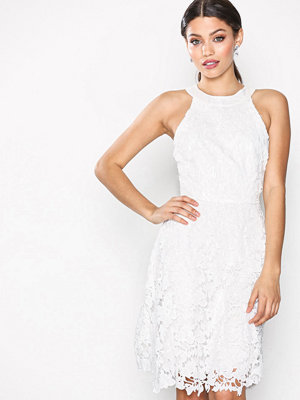 NLY Eve Scallop Lace Dress Vit