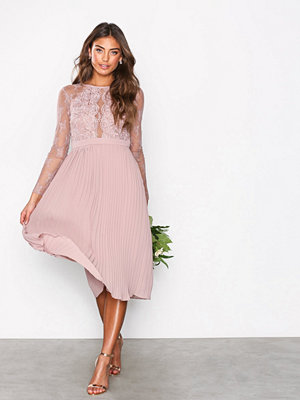 NLY Eve Lace Pleated Dress Rose