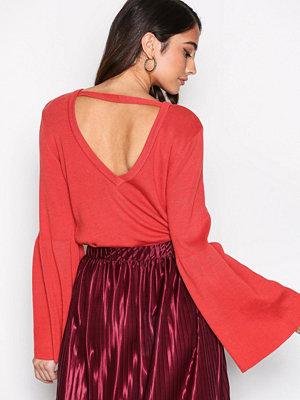 NLY Trend Wide Sleeve Knit Röd