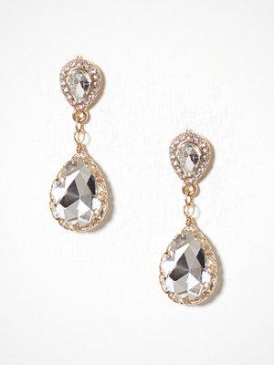 New Look örhängen Teardrop Stud Earrings Crystal