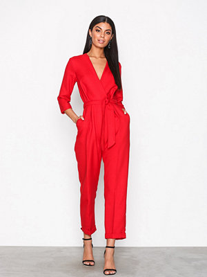 Jumpsuits & playsuits - Closet Crossover Jumpsuit Red