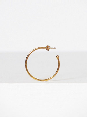 Blue Billie örhängen Big Base Hoop Earring Guld