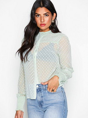 NLY Trend Stylish Smock Blouse Pistage