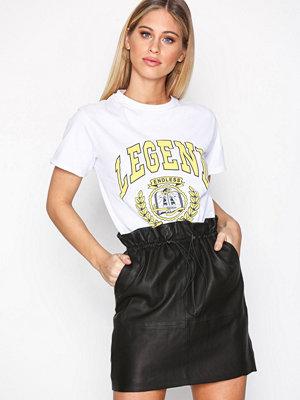 NORR Joline leather skirt Black