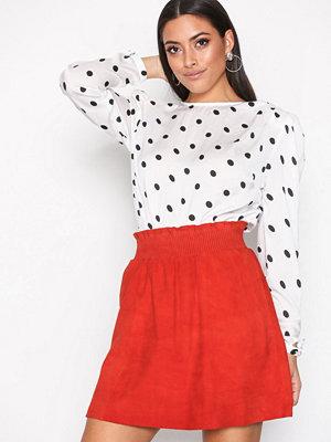 Y.a.s Yasola Suede Skirt Orange