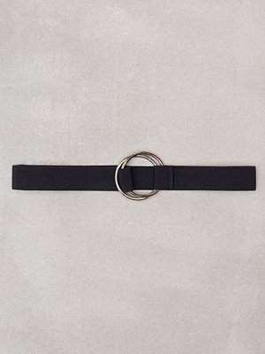 NLY Accessories Double Rings Elastic Belt Svart