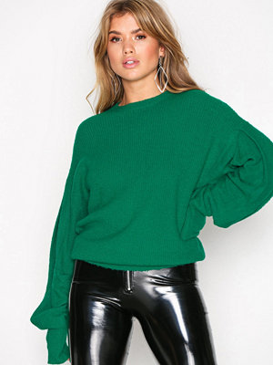 NLY Trend Volume Sleeve Knit Grön