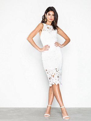Missguided Crochet Lace Back Detail Midi Dress White