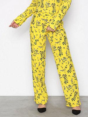 NORR mönstrade byxor Tiffany pants Yellow
