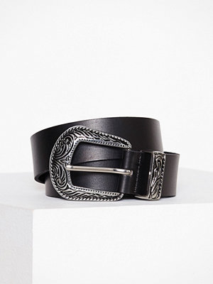 Pieces Pcgrethcen Leather Wide Jeans Belt