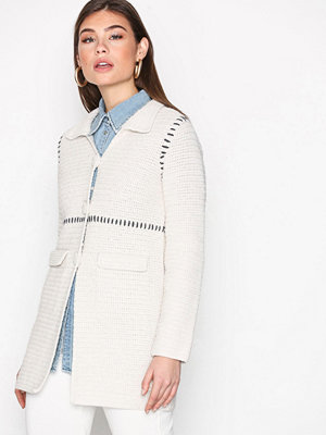 Odd Molly Crochet Grandma Coat Chalk