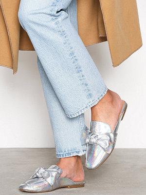 Tygskor & lågskor - Bianco Bow Loafer Silver