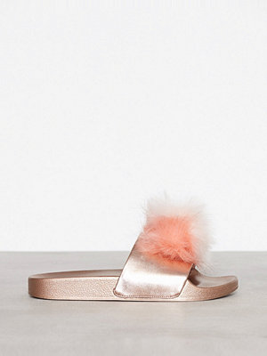 Tofflor - Steve Madden Spiral Slipper Rose Gold