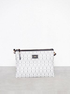 Dagmar vit mönstrad kuvertväska Strap Bag Vit