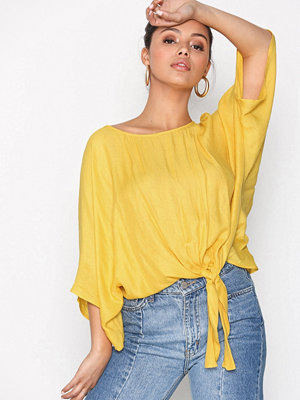 River Island Knot Front Tee Yellow