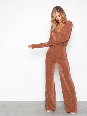 NLY Trend Glamorous Wrap Jumpsuit Rust